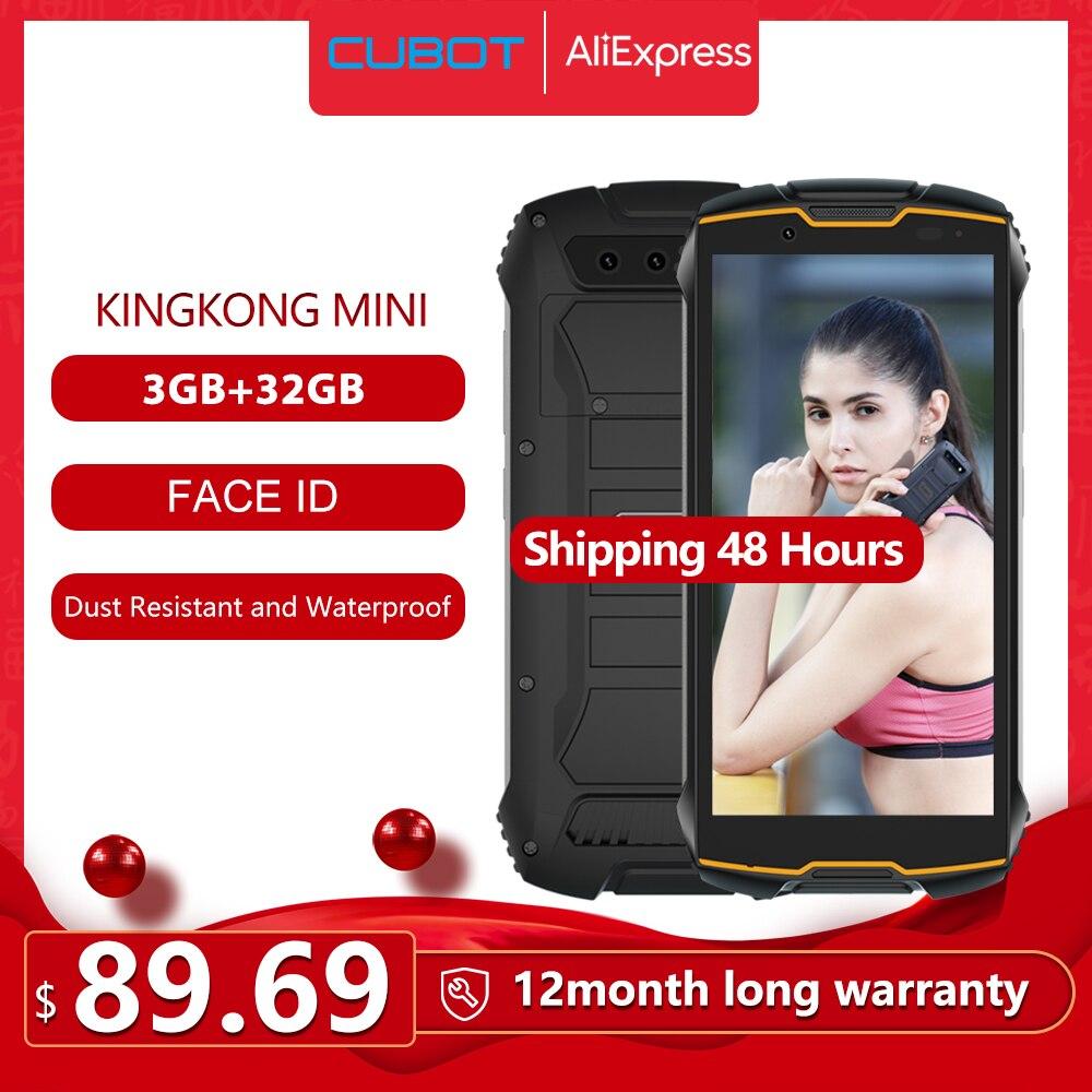 "Cubot KingKong MINI 4"" QHD+ 18:9 Rugged Phone Waterproof 4G LTE Dual-SIM 3GB+32GB Android 9.0 Outdoor Smartphone Compact Phone(China)"
