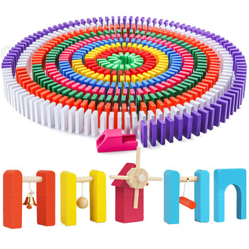 Chidlren drewniane Domino zabawki instytucja akcesoria organy bloki Domino gry zabawki edukacyjne montessori dla dzieci prezent tanie i dobre opinie Miuioee Domino Institution Accessories 5-7 lat Dorośli 14Y 8 ~ 13 Lat Drewna Sport Away from fire 120pcs Multi-Colorful