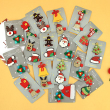 2 шт./компл. милый Рождественский набор зажим для волос конфеты Санта Клаус заколка для волос для маленьких девочек повязка на голову с соской клип, ювелирное изделие, подарок женские аксессуары для волос