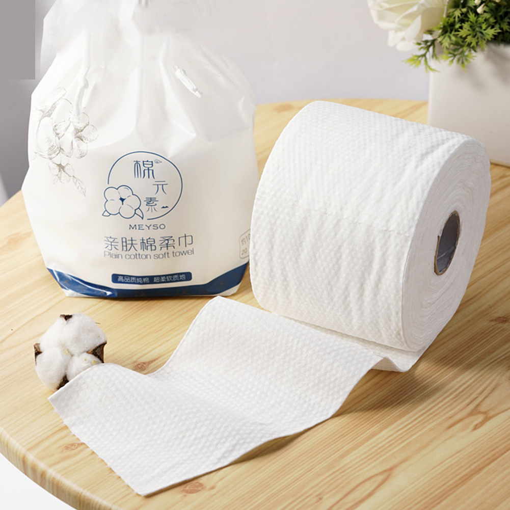 70pcs/roll Pads Travel Soild Face Towel Facial Cleaning Washcloths Makeup Non-woven Fabric Soft Baby Thickened Disposable Wipers