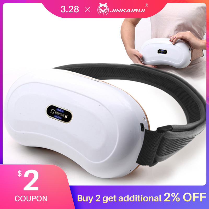 Jinkairui Multifunction Electric Waist Abdomen Massager Kneading And Heating Shiatsu Pain Relief  Slimming Fitness Belt