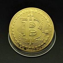 1 шт. 40 мм Золотой Биткоин монета с футбольной тематикой акриловые круглые чехол Litecoin Eth хпр криптовалюта металлические монеты подарки Non-мон...
