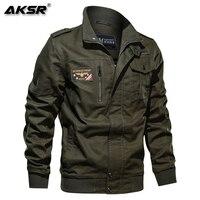 AKSR Men Brand Clothing Fashion Cotton Military Jacket Autumn Winter Soldier Pilot Jackets Male Bomber Jackets Plus Size 6XL