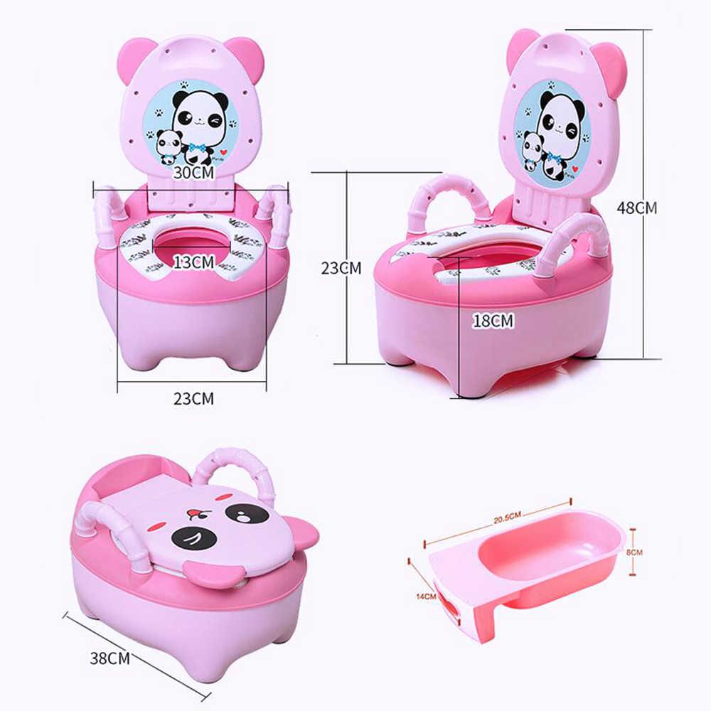 Orinal de bebé para entrenamiento, asiento de inodoro, pote portátil para niños, orinal cómodo, respaldo, macetas de dibujos animados, pequeño inodoro para niña, cacerola