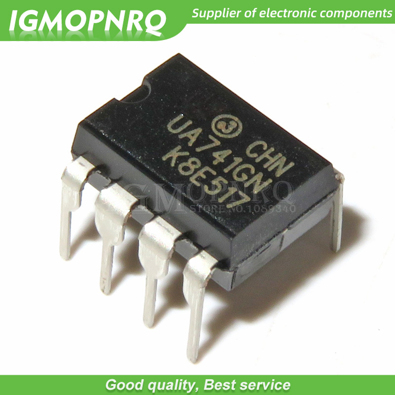 10pcs UA741CN UA741 LM741 Op Amp Compensation Type DIP-8 New Original
