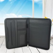 Dossier de conférence A4 multifonctionnel, dossier professionnel daffaires, sac de rangement de documents, portefeuille avec calculatrice