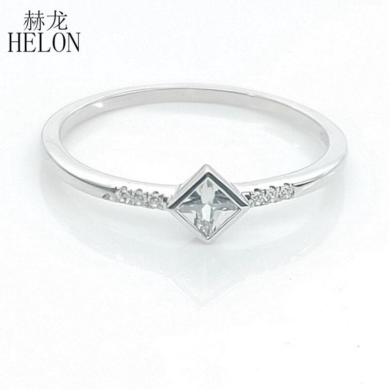 Argent Sterling 925 or blanc couleur véritable AAA classé cubique zircone mariage anniversaire anneau bande femmes à la mode Fine bijoux