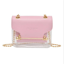 Transparent Crossbody Bags For Women Fashion Jelly Small Square Package Womens Chain Mini Shoulder Bag Ladies Handbags Hot