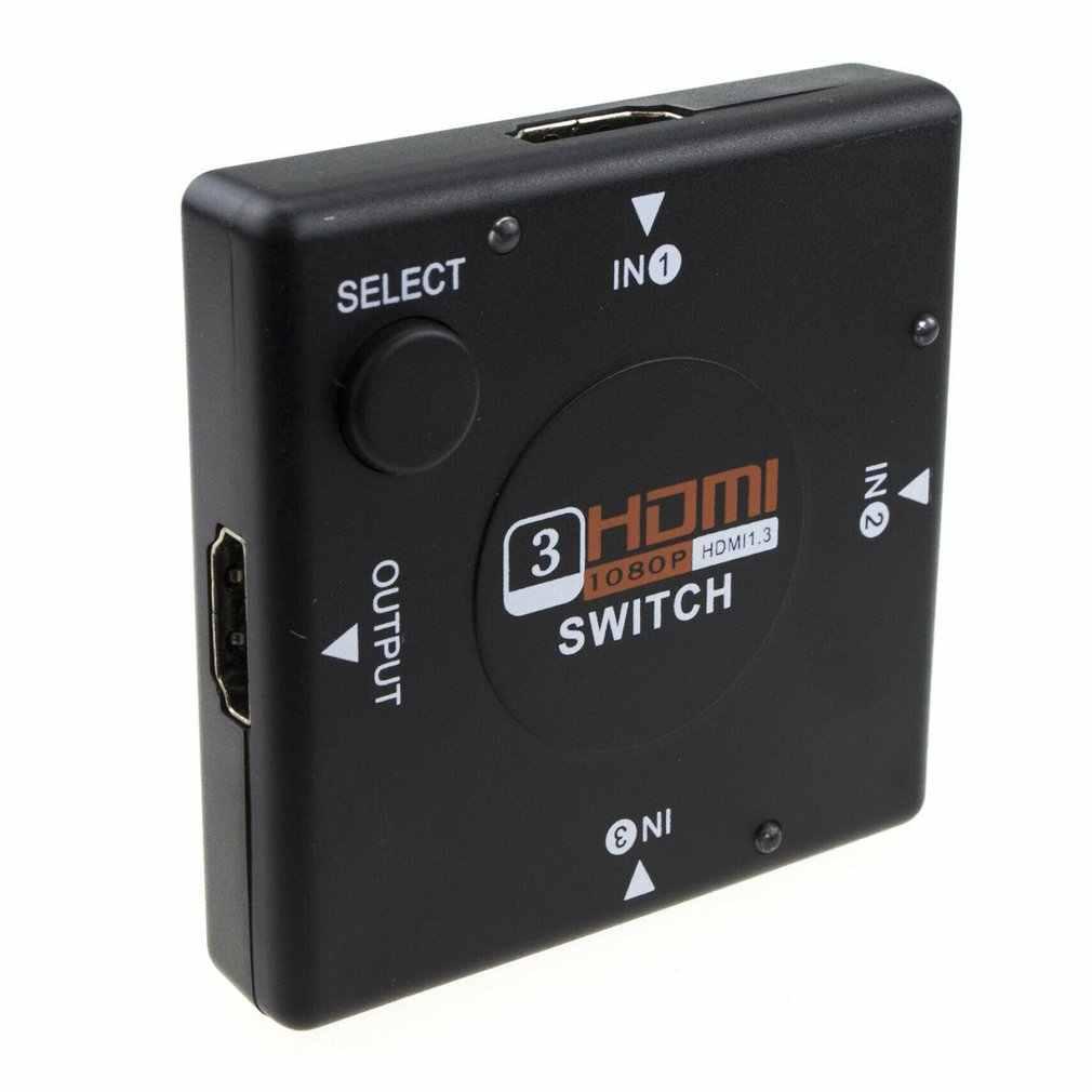 Mini Hdmi Switcher 3 Dispositivi per 1 Tv Selettore Switch Box 3 1080P 3 in 1 Out Hdmi splitter Supporto 3D