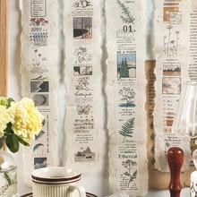 1 hoja de estilo intelectual Retro cinta de tiras pegatina para diario Scrapbooking Collage diario Ablum decoración pegatinas de Material de papelería