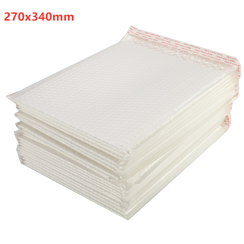 50/30/10/5 Pcs 27x34CM Different Matte White Bubble Film Envelope Bag Foam Express Delivery Packaging Mailing Envelope Bag