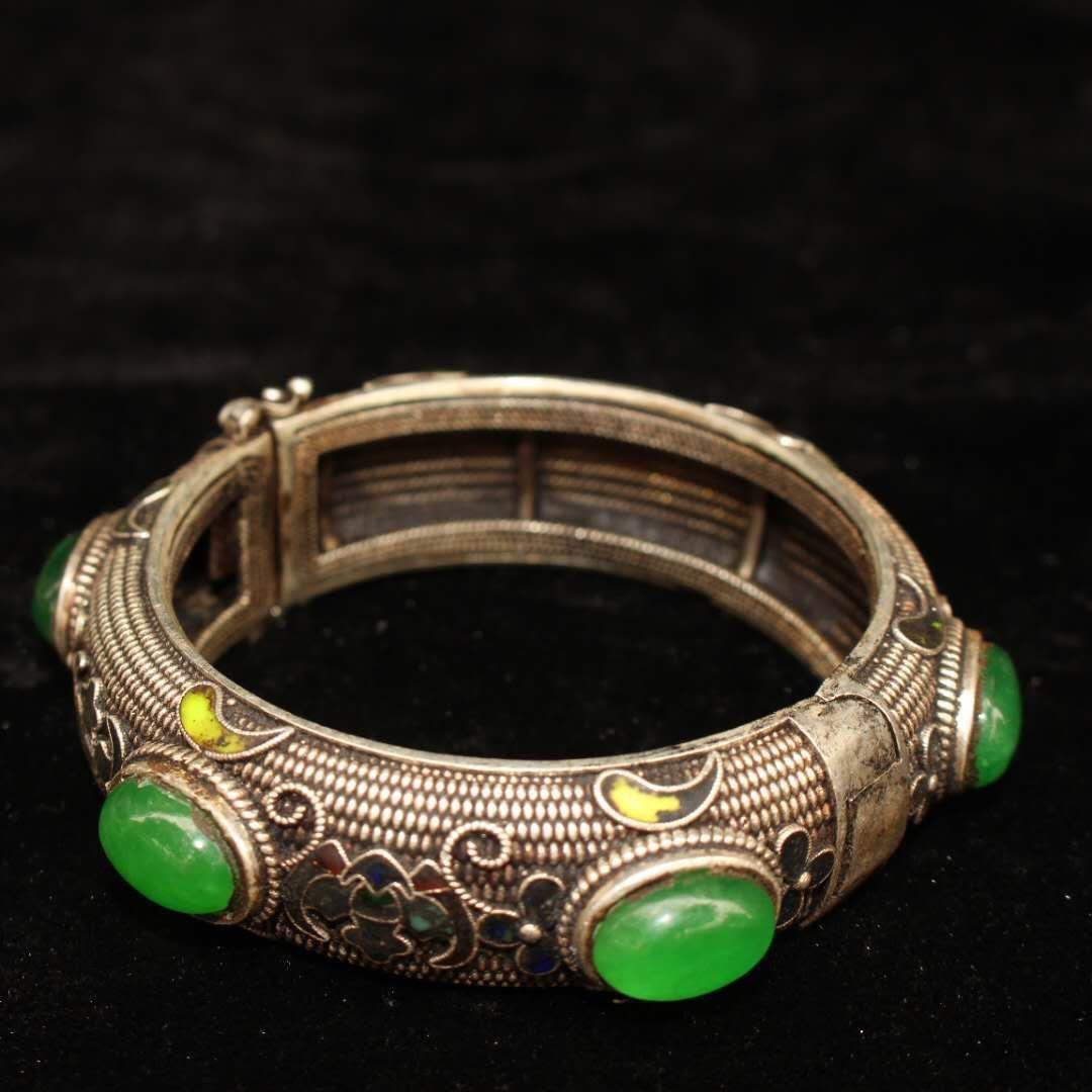 Tibet e nepal antigo tibetano prata incrustada