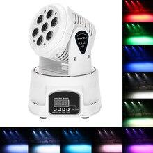Lixada-Mini cabezal giratorio para escenario, lámpara de efecto de luz móvil para fiesta, discoteca, KTV, 105W, RGBW, 9/14 canales, DMX512