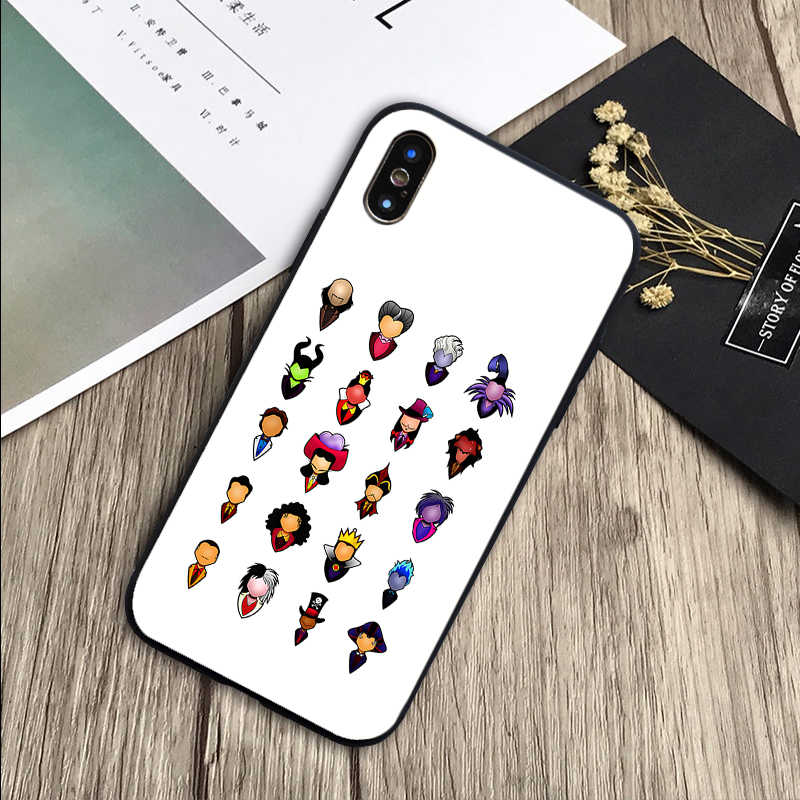 Disny Nhân Vật Phản Diện Bao Da Silicone Mềm Đen Ốp Lưng Điện Thoại Iphone 5 5S SE 6 6 Plus 7 8 Plus X XR XS Max 11 Pro Max