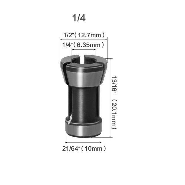 1PC / 3PC Hochpräzisionsadapter Spannzange 8 mm 6,35 mm 6 mm Spannzangenfutter Gravur Trimmmaschine Router Fräser Zubehör