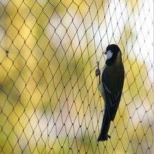 1 * rede de pragas de rede 5*10/15/25/30m extra forte anti pássaro rede jardim preto náilon protege frutas/árvores/culturas de aves
