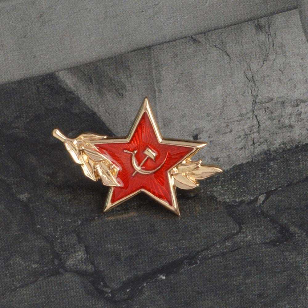 Uni Soviet Simbol Enamel Pin Perang Dingin Soviet Pro Kitty Red Star Sabit Hammer Bros Hadiah Ikon Lencana Tombol Kerah Pin untuk mantel Hadiah Bro