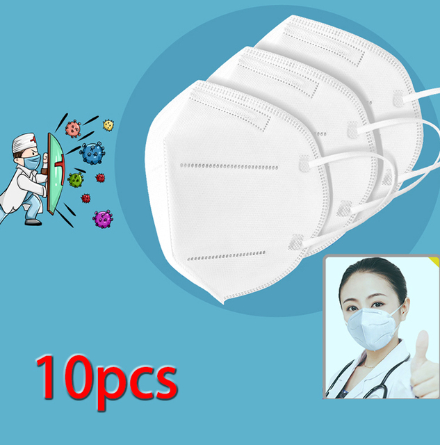 10Pcs Mouth Mask Protection Covers Windproof Dustproof Anti-fog Haze Pollution Mouth-muffle Anti-Viruses Bacteria Proof Flu Mask 3
