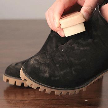 Czyszczący skruber szczotki do zamszu nubuku materiał buty buty torby tanie i dobre opinie RUBBER Shoe Brush