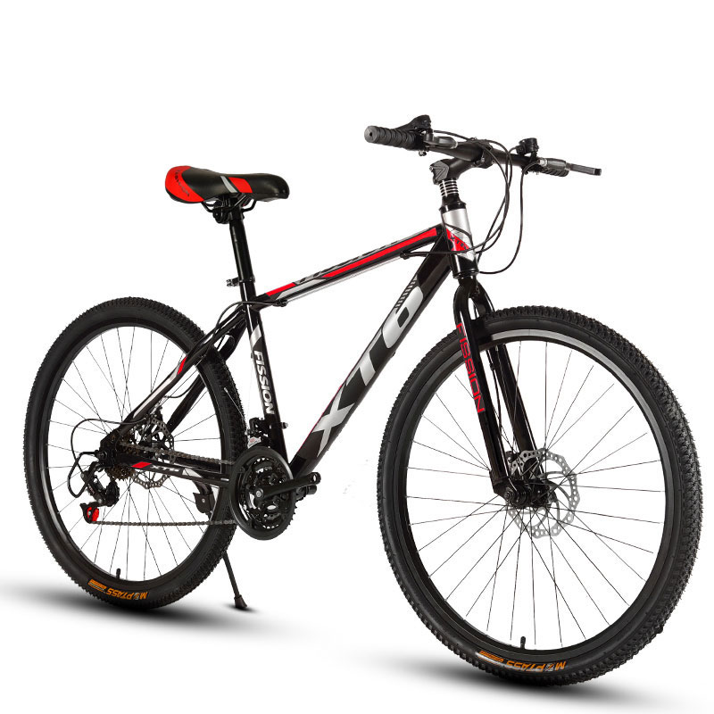 Mountain Bike 24/26 Inch 21/24/27/30 Speed Variable Speed Double Shock Off-road Racing Student Adult