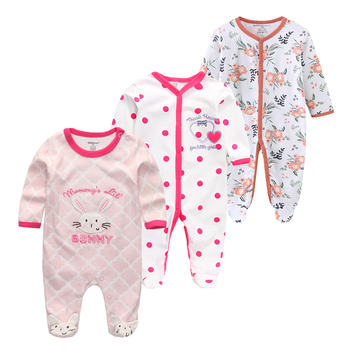 0-12Months Baby Rompers Newborn Girls&Boys 100%Cotton Clothes of Long Sheeve 1/2/3Piece Infant Clothing Pajamas Overalls Cheap - baby romper12, 6M