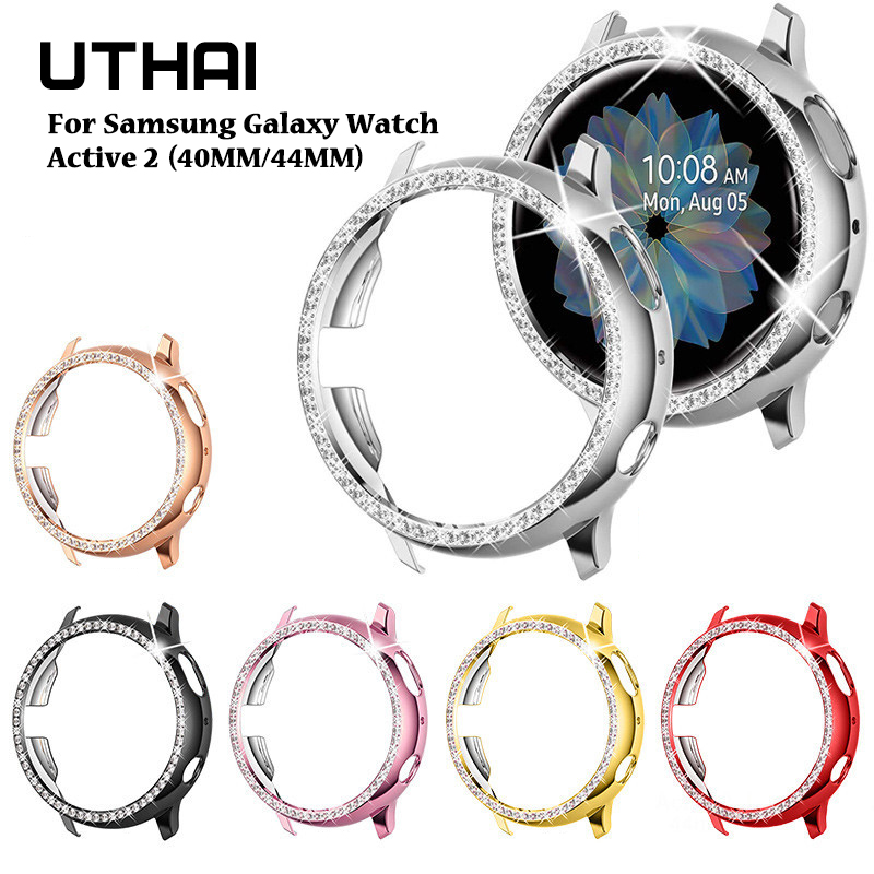 UTHAI P88 Watch Case For Samsung Galaxy Watch Active 2 40mm 44mm Half-edged Brick Protection Case For Galaxy Watc Active2 Case