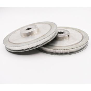 Darmowa wysyłka HTD 3M typ 100 T 100 zęby 8 10 12mm wewnętrzny otwór 3mm Pitch 11 szerokość paska synchroniczne koło pasowe rozrządu tanie i dobre opinie Stop 3M Type 11mm