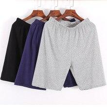 Мужчины% 27 одежда для сна Lounge шорты нижнее белье хлопок однотонный тонкий летний удобный дом боксеры шорты повседневный мужские пижамы сна низ