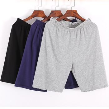 Men's Sleepwear Lounge Shorts Underwear Cotton Solid Thin Summer Comfortable Home Boxer Shorts Casual Men Pajamas Sleep Bottoms