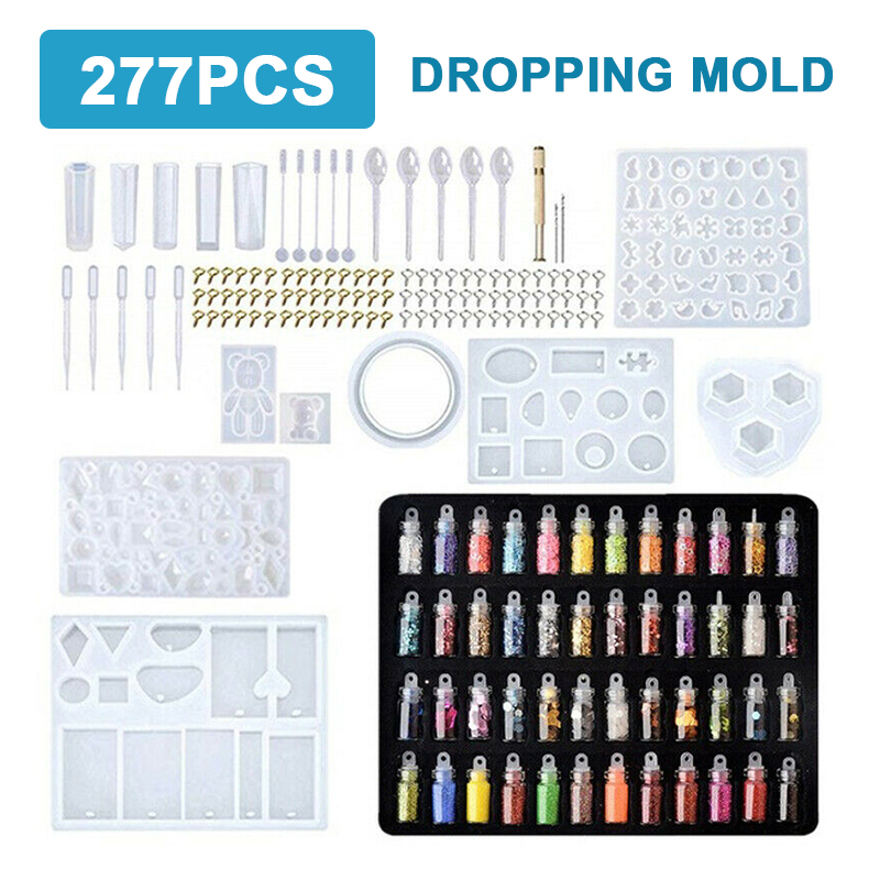 277pcs/set Resin Casting Mold Tool Kit DIY Silicone Jewelry Pendant Making Mould For Craft Jewelry Necklace Bracelet Making