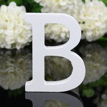 1pc 10cm letras de madeira alfabeto branco casamento festa de aniversário diy casa decorações personalizadas design de nome 3.94 polegadas