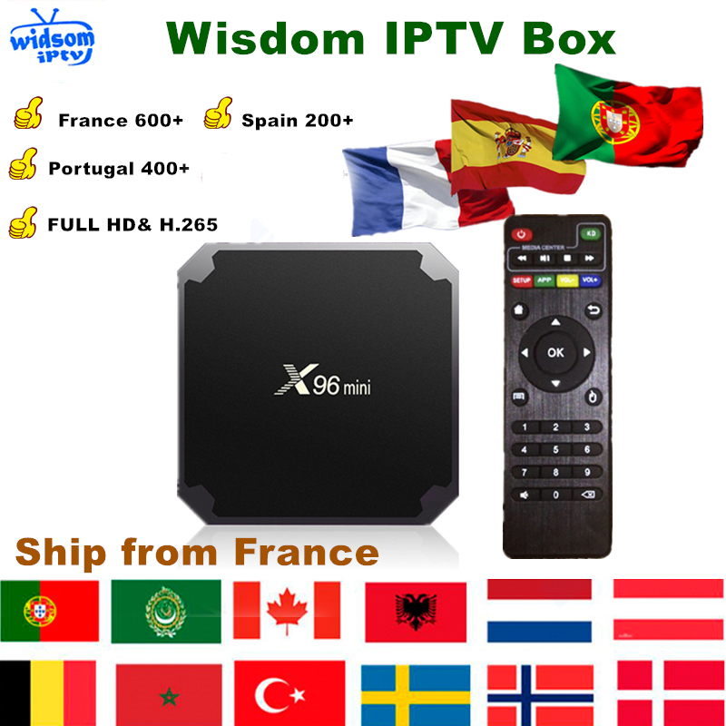 French IPTV Box X96 Mini Android TV Box+1 Year IPTV Subscription France UK German Arabic Dutch Poland Portugal Spain IPTV