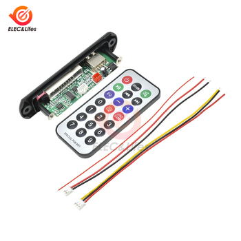 Car USB /TF Card Version MP3 Player Decoder Board with radio FM function Automobile Car Audio Module volume control play/pause image