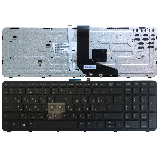 NEW Russian laptop keyboard FOR HP for ZBOOK 15 17 G1 G2 PK130TK1A00 SK7123BL with backlight/Pointer 733688 001