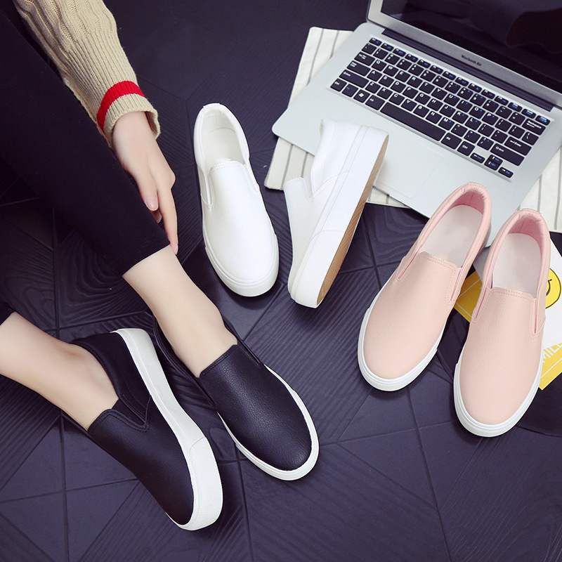 NEW 2017 Fashion Brand Women Cartoon Loafers Flats Shoes Woman Casual Slip On Platform Shoes Ladies Comfort Shoes Size SA-8