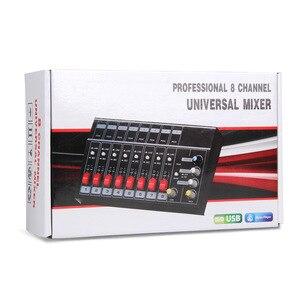 Image 5 - Mezclador de sonido estéreo profesional, 8 canales, consola de Karaoke, mezclador de DJ Digital con USB para micrófono, fiesta, PC, reuniones