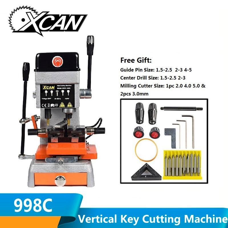 XCAN универсальная машина для резки ключей DEFU 998C 110/220V Слесарные Инструменты машина для резки ключей для маркировки дублирования ключа автомобиля дома