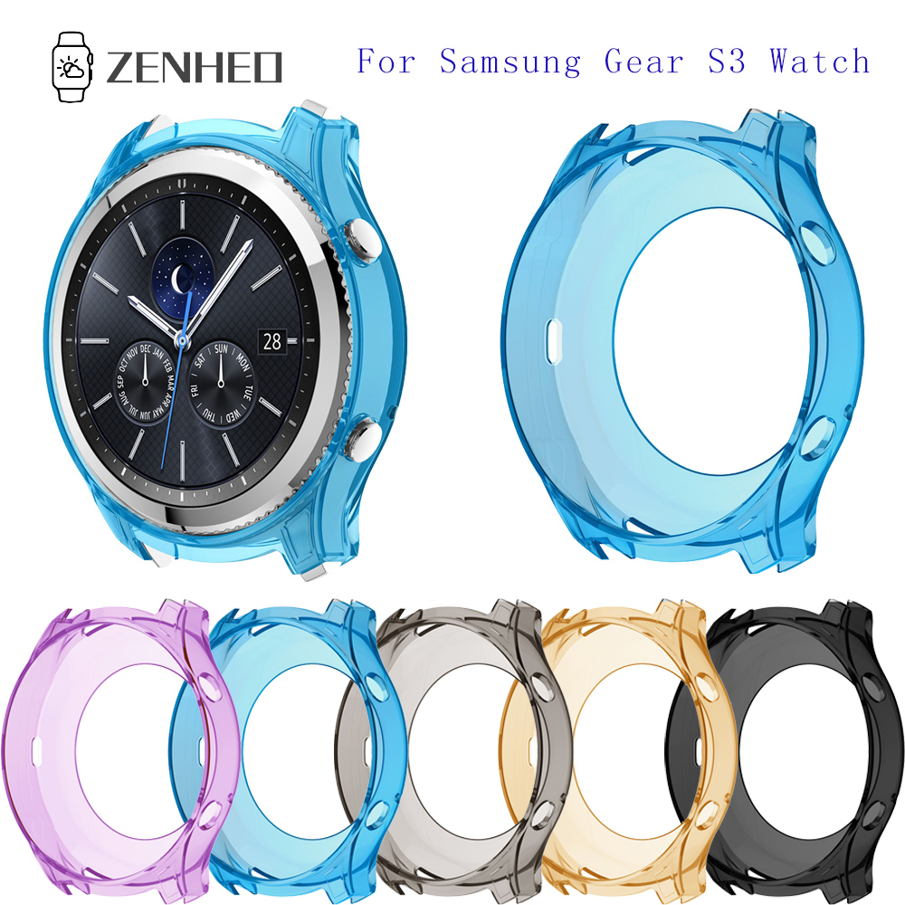 TPU Watch Protective Case Shell For Samsung Gear S3 Watch Removable Replacement Accessories TPU Protective Case Shell