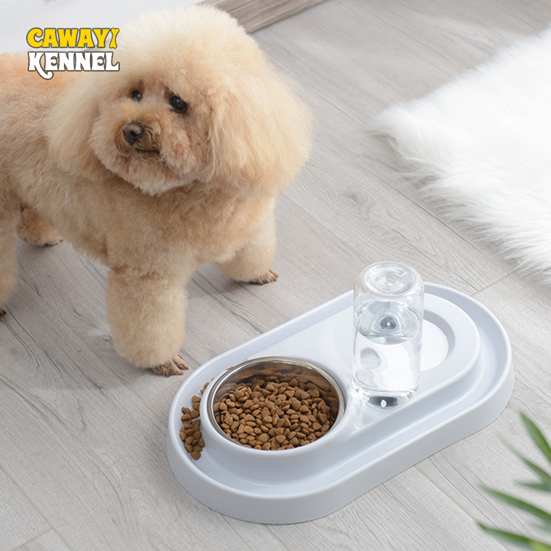 CAWAYI KENNEL Dog Feeder Drinking Bowls for dogs Cats font b Pet b font Food Bowl
