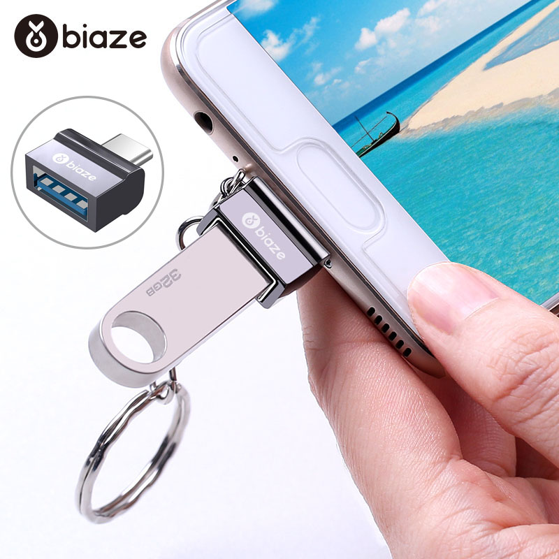 Biaze OTG Type C To USB 3.0 Adapter USB C Male To USB 3.0 Female Converters For Macbook Samsung S9 S8 Huawei P30 Pro Type-c OTG