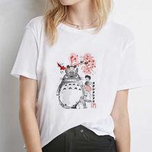 Женская футболка с героями мультфильма «Тоторо Спирит ауэй»
