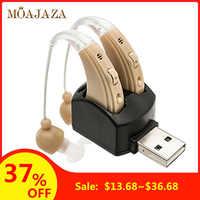 Batterie/Rechageable Hörgerät für Ältere Deaf Hinter Dem Ohr Sound Verstärker Einstellbare Volumen Hörgeräte
