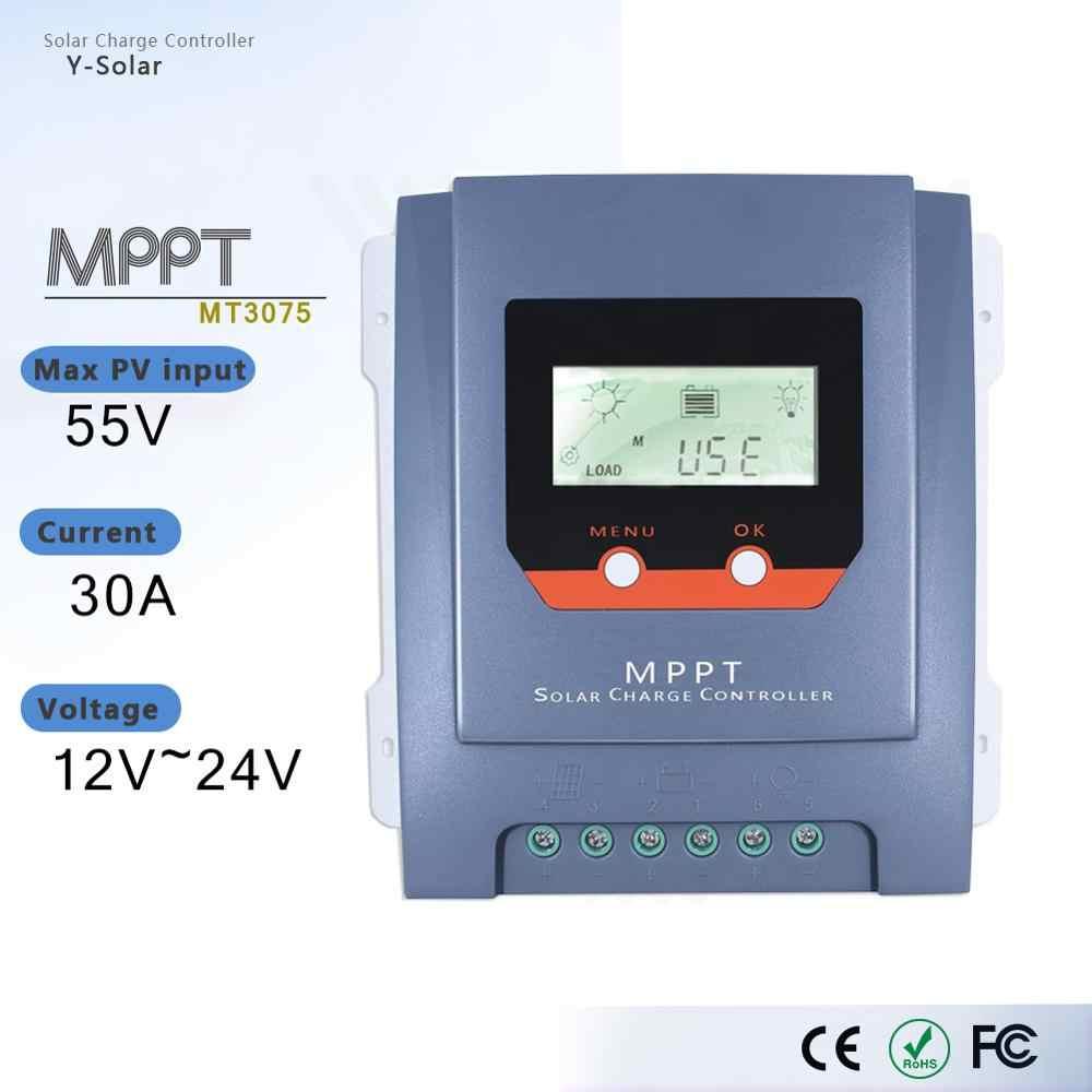 MPPT 30A الشمسية جهاز التحكم في الشحن 12 فولت/24 فولت السيارات الواح البطاريات الشمسية تهمة منظم مع شاشة الكريستال السائل في الوقت الحقيقي إحصاءات الطاقة