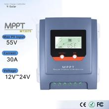 MT3075 30A MPPT Solar Charge Controller 12V/24V Auto Solar Panel Battery Charge Regulator with LCD Display and Dual USB Output