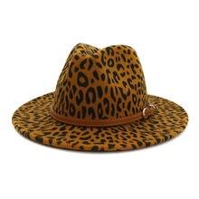 Зимние шапки с леопардовым ремешком винтажные джазовые ковбойские