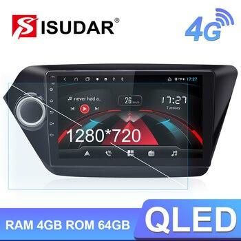Isudar H53 4G Android 1 Din Auto Radio For KIA/K2/Rio Car Multimedia Player Octa Core RAM 4GB ROM 64GB GPS USB DVR Camera DSP newest 10 1 din 4gb ram 64gb flash px5 octa cores universal car head unit android 8 0 car radio stereo audio multimedia player