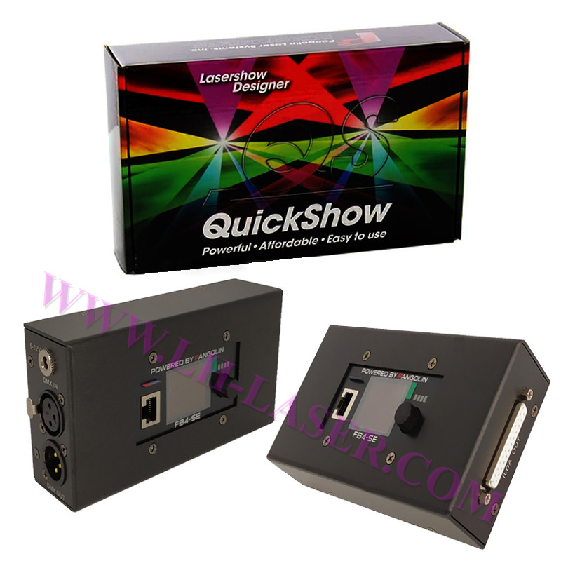 Free Shipping Pangolin Quickshow FB4 Laser Software For Professional Laser Stage Lighting DJ Effect Projector