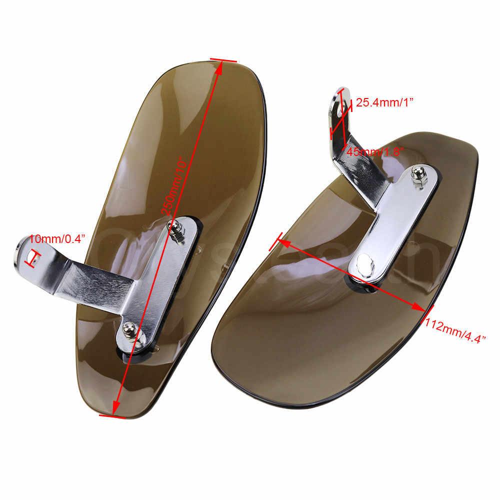 Yctze Protectores de mano para motocicleta protecci/ón protectora de carcasa de mano ABS Se adapta a la mayor/ía de las motocicletas con poste de espejo de 8 mm o 10 mm Negro