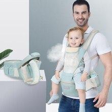 0 36M Breathable ผู้ให้บริการทารก ERGONOMIC กระเป๋าเป้สะพายหลังแบบพกพาเด็กสลิงผ้าฝ้ายทารกแรกเกิด Kangaroo กระเป๋า Hipseat