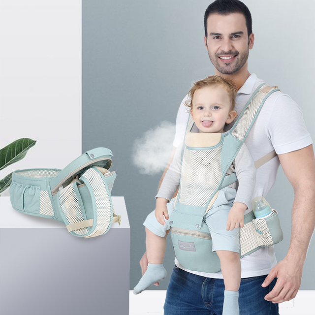 Adjustable 0 36M Breathable Ergonomic Baby Carriers Backpack Portable Baby Sling Wrap Cotton Infant Newborn Kangaroo Bag Hipseat